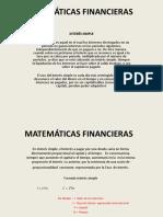 Matemáticas Financieras Interes Simple