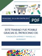 Encuesta Nacional - Privacidad en la era digital en México - Resumen