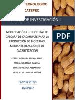 ELIMINACION DE COMPUESTOS LIGNOCELULOSICOS DE CASCARA DE CACAHUATE