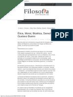 2009 -  Gustavo Bueno - Ética, Moral, Bioética, Derecho. Reconstrucción de La Conferencia Inaugural Del XVI Congreso Astur-Galaico – Filosofiamx