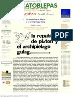 1978 - Gustavo Bueno - La República de Platón y El Archipiélago Gulag, 1978