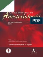 Anestesia Para Trasplante de Organos CMA