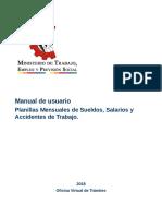 Manual de Declaracion de Planillas Mensuales Ministerio de Trabajo