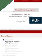 Computational Linear Algebra