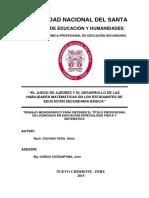 EL JUEGO DE AJEDREZ Y EL DESARROLLO DE LAS  HABILIDADES MATEMÁTICAS EN LOS ESTUDIANTES DE  EDUCACIÓN SECUNDARIA BÁSICA