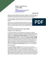 b2b en Derecho Internacional Privado