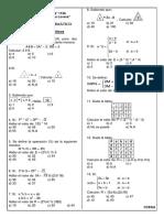 Sesion de Aprendizaje  N° 25  Operadores Matematicos Ccesa007