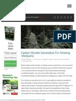 Carbon-Dioxide Generators for Growing Marijuana