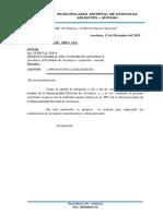 Oficio de Alcaldia