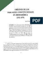 Los Origenes de Los Tribunales Constituciones en Iberoamerica