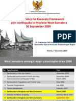 National Policy for Recovery Framework Post Earthquake in West Sumatera Province
