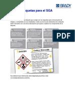 Guía de Etiquetas Para El SGA BRADY