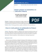 Ajedrez  para  trabajar  patrones  en  matemáticas  en   Educación  Primaria