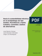 Hacia La Sostenibilidad Electrica en El Archipielago de San Andres Providencia y Santa Catalina Colombia Analisis de Alternativas