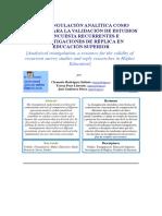La Triangulación Analítica Como Recurso Para La Validación de Estudios de Encuesta Recurrentes e Investigaciones de Réplica en Educación Superior