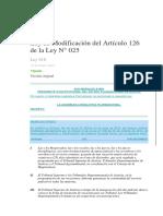 Ley modificatoria del Art. 126 de la ley 025810.docx