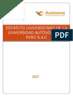 Estatuto Universitario Universidad Autónoma Del Perú