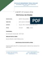 Protocolo certificado pozo a tierra