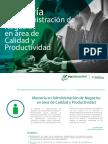Maestría en Administración de Negocios en Área de Calidad y Productividad
