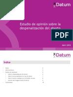 Encuesta Nacional sobre la Despenalización Del Aborto