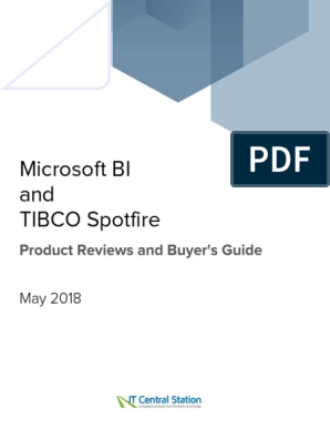 Microsoft BI vs  TIBCO Spotfire Report From IT Central
