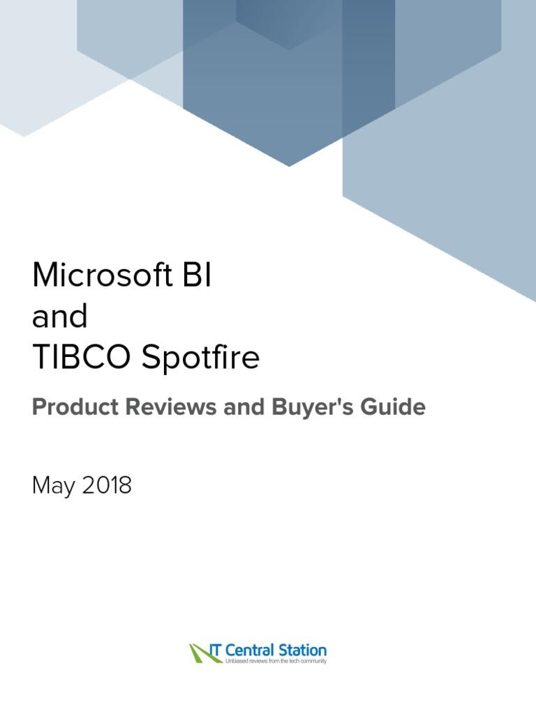 Microsoft BI vs  TIBCO Spotfire Report From IT Central Station 2018
