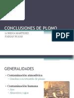 Conclusiones de Plomo