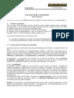 LE36 Textos NO Literarios. Guía Teórica 2015
