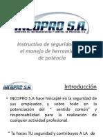 Incopro Presentacion Manejo de Herramientas Electricas (1) (3)