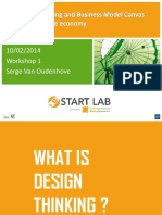 Design Thinking and Business Model Canvas for Mobile Economy