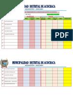 Control de Asistencia de Los Trabajadores de La Municipalidad Distrital de Acochaca