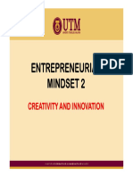 Entrepreneurial Mindset 2 - Creativity and Innovation