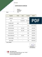 Certificado de Analisis WS EXPORTACION