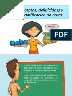 Conceptos Definiciones y Clasificacin de Costo