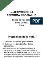 OBJETIVOS DE LA REFORMA PRO-SALUD.ppt