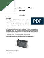 Monitoreo y Control de Variables de Una Caldera Mediante Plc