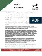 Alderton General Planning Statement