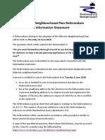 Alderton Referendum Information Statement