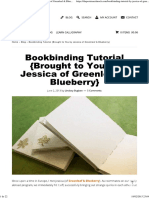 Bookbinding Tutorial {Brought to You by Jessica of Greenleaf & Blueberry}