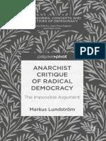 Anarchist Critique of Radical Democracy - Markus Lundstrom