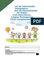 Caderno de Intervenção Pedagógica Com Descritores