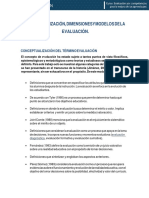 Conceptualización, Dimensiones y Modelos de La Evaluación