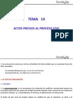 Tema 14.a - Actos Previos Al Proceso