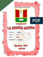 Monografia Region Sierra