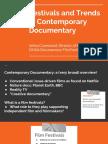 FESTIVALS + TRENDS IN CONTEMPORARY DOCUMENTARY- CA135