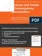 FESTIVALS + TRENDS IN CONTEMPORARY DOCUMENTARY- CA135