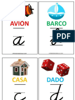 Abecedario Imprimible Fichas Letras Aprender Minúsculas