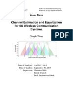 Channel Estimation and Equalization for 5G Wireless Communication Systems
