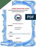 Mantenimiento de Telares de Pinza G.D. T.D.