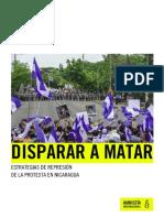 Reporte Nicaragua - Disparar a Matar